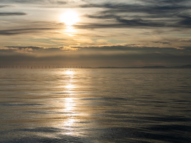 Photo of another view of the sun going down over the Solway Firth