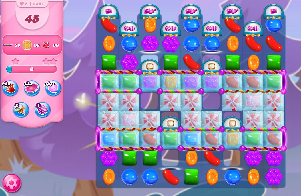 Candy Crush Saga level 8491