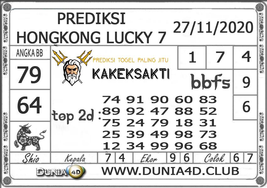 Prediksi Togel HONGKONG LUCKY 7 DUNIA4D 27 NOVEMBER 2020
