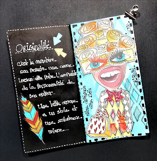 Art journal, dylusions, marie scrapoune, scrapbooking,