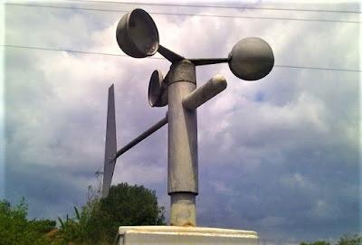 pengukur kecepatan angin anemometer mangkok