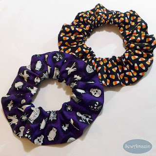 Glow in the Dark Halloween Dog or Cat Scrunchie Neck Ruffles