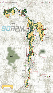 Mappa d'insieme del Parco Lura con aree di interesse e percorsi.