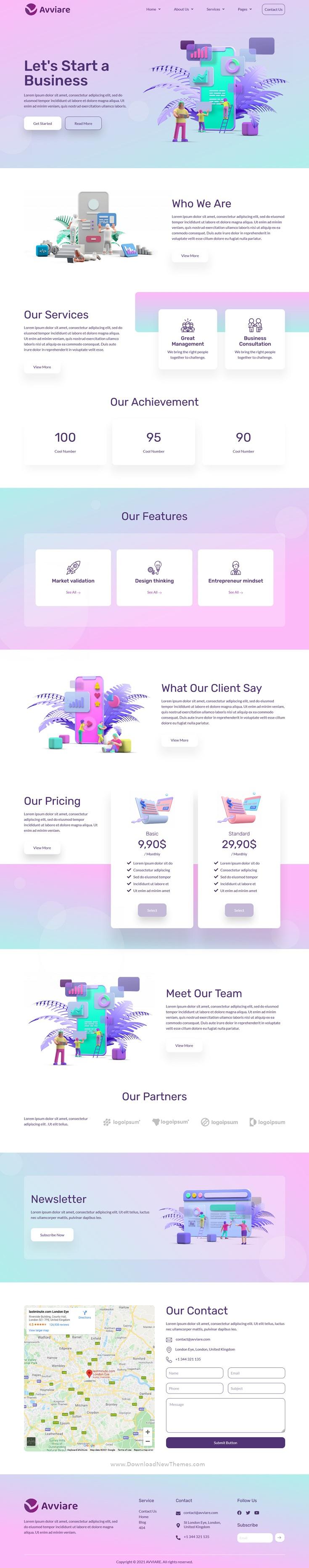 Start Up Business Elementor Template Kit