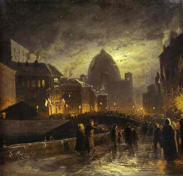 "Fyodor Vasilyev's ""Illumination in St Petersburg"" (1869)"