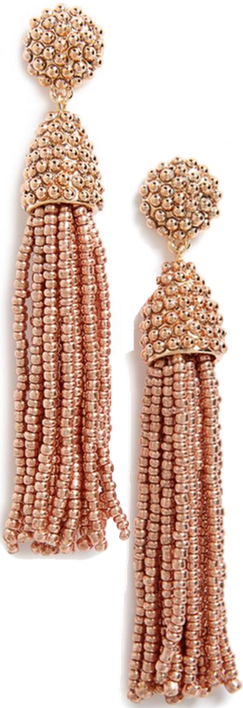 BAUBLEBAR 'Piñata' Tassel Earrings Rose Gold