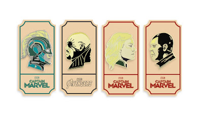 Captain Marvel Movie Portrait Enamel Pin Series 2 by Matt Taylor x Mondo