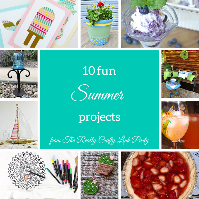 10 fun summer projects rom The Really Crafty Link Party