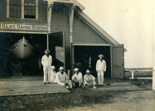 Surfside Lifesaving Station, 1906. Source: Nantucket Historical Association