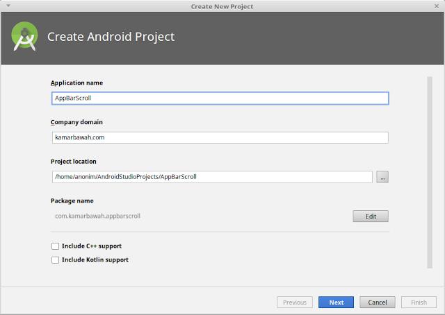 Android Studio : Cara Menghilangkan ActionBar Saat di Scroll