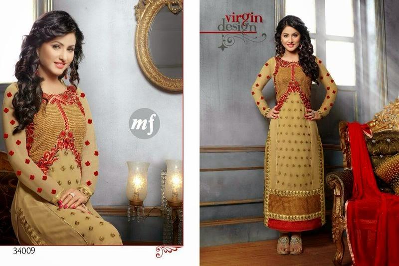 Catalogue 698 Hina Khan Mf Hada Boutique