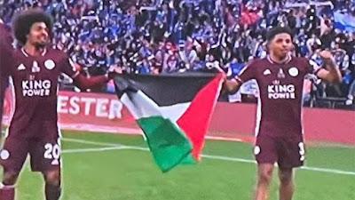 Leicester City Juara Piala FA, Bendera Palestina Berkibar di Stadion Wembley London