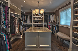 An image of well organised wardrobe
