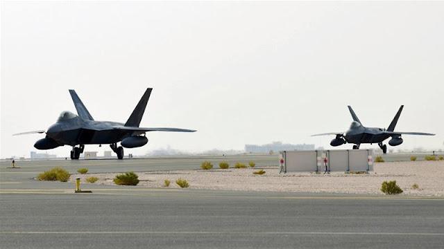 Lần đầu tiên Không quân Hoa Kỳ triển khai F-22 Raptors tới Qatar