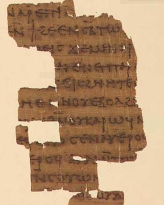Frammento di un testo del quarto secolo dell'Apocryphal Dialogue of the Savior, in cui Maria Maddalena è una figura centrale