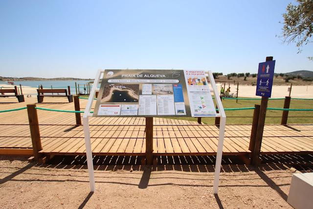 Placa Praia de Alqueva