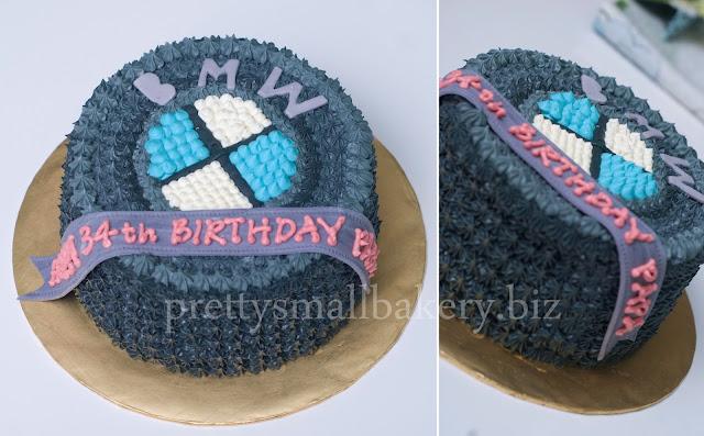 Kek Birthday Logo Bmw Khas Utk Papa Prettysmallbakery
