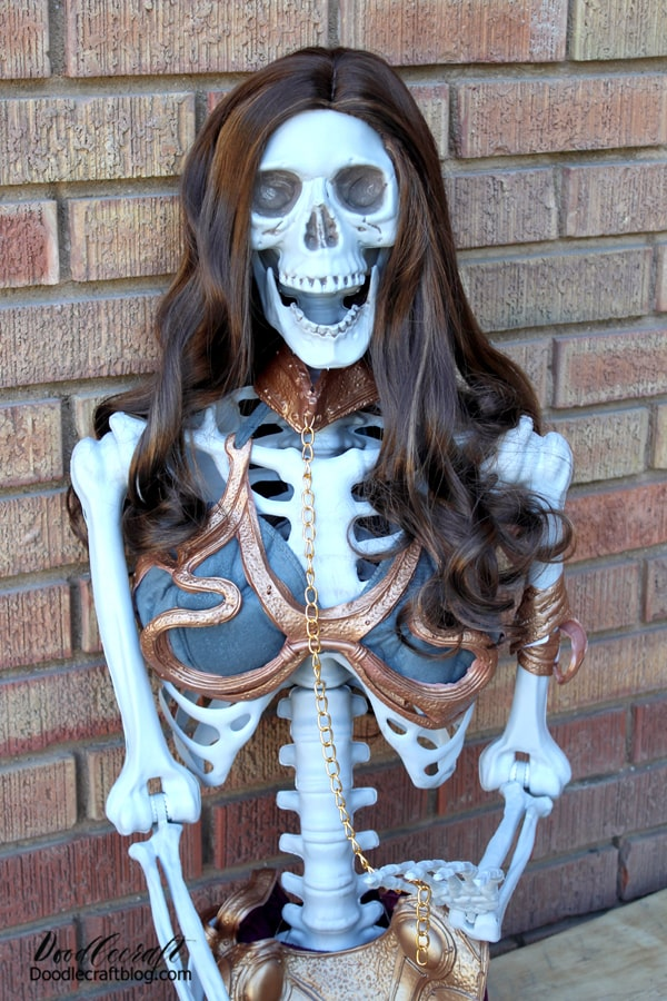 Oriental Trading has a huge selection of awesome Halloween costumes too! This skeleton has never looked better than this--who doesn't love the Slave Leia costume paired with the Wonder Woman wig? It's perfection--and still shows off that ribcage!