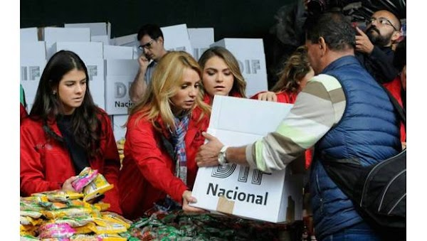 Angélica Rivera pide apoyo para los damnificados del sismo de 8.2