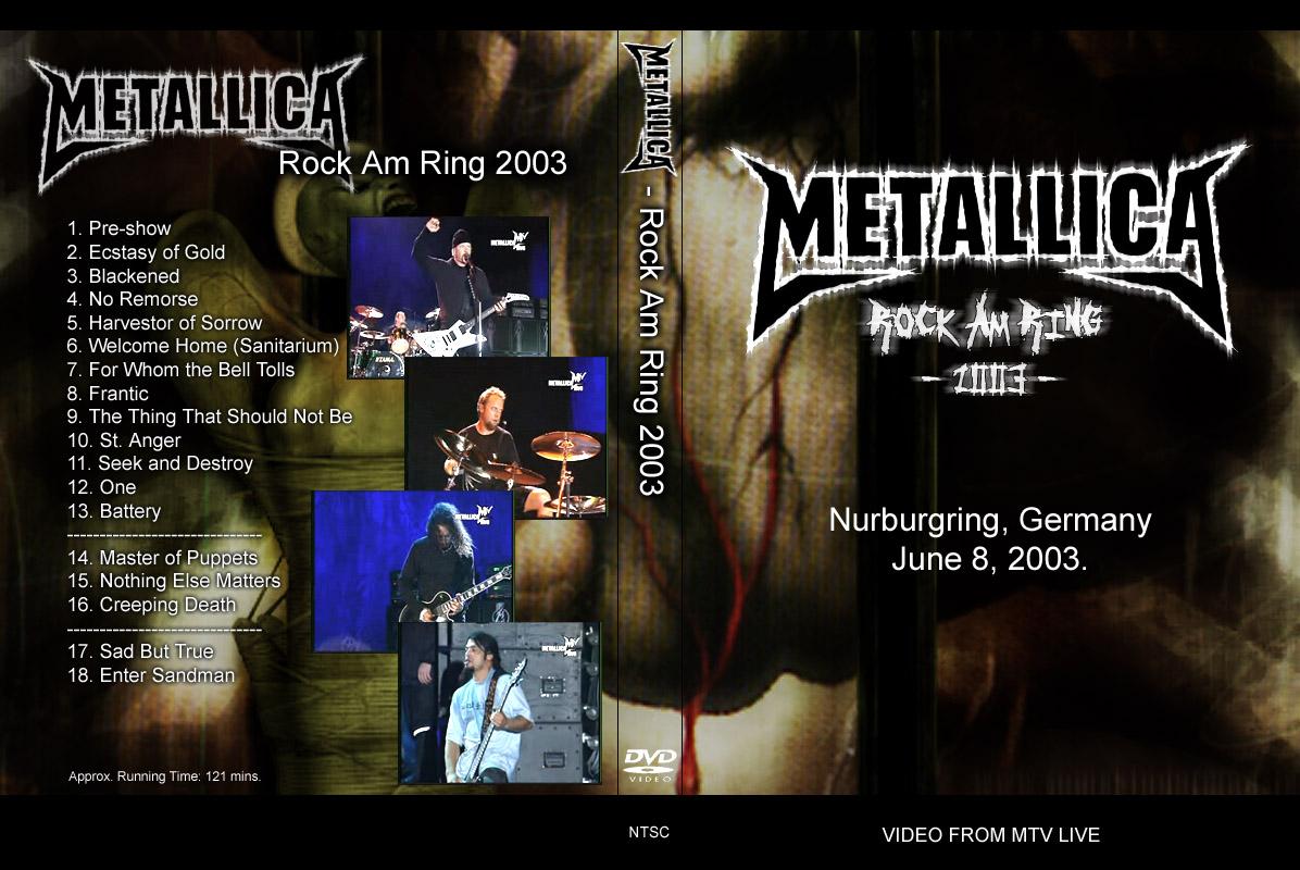DVD Concert TH Power By Deer 5001: Metallica - 2003-06-08 ...