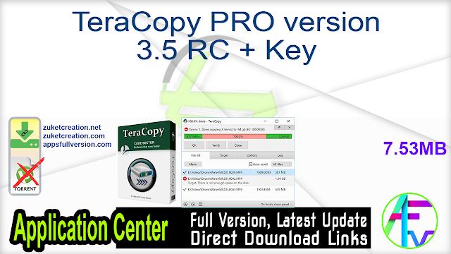 TeraCopy PRO 3.5 RC + Key