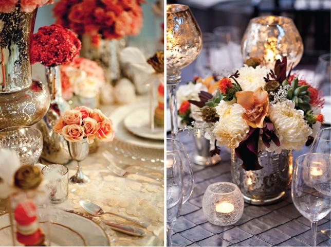 Wedding trends mercury glass belle the magazine