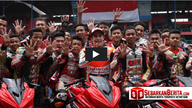 Atraksi Salam Perpisahan Marc Marquez di Sentul Bogor yang Bikin Histeris Netizen
