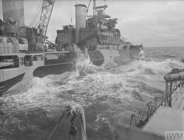 Refueling a destroyer at sea, 9 March 1942 worldwartwo.filminspector.com