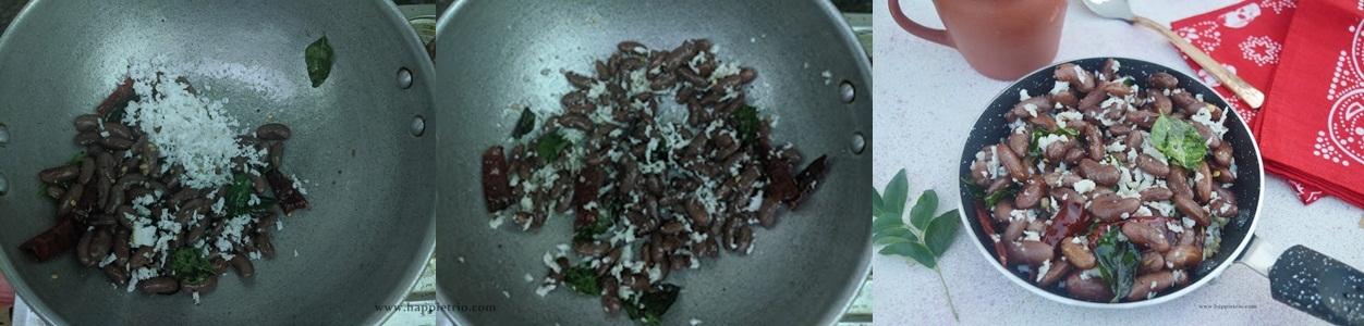Step 3 - Rajma Sundal Recipe | Red Kidney Beans Sundal