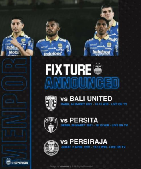 Jadwal Persib Bandung Piala Menpora 2021