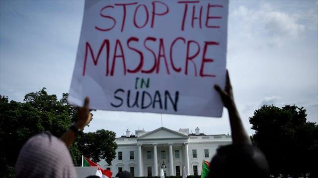 Protesta frente a la Casa Blanca por la crisis en Sudán