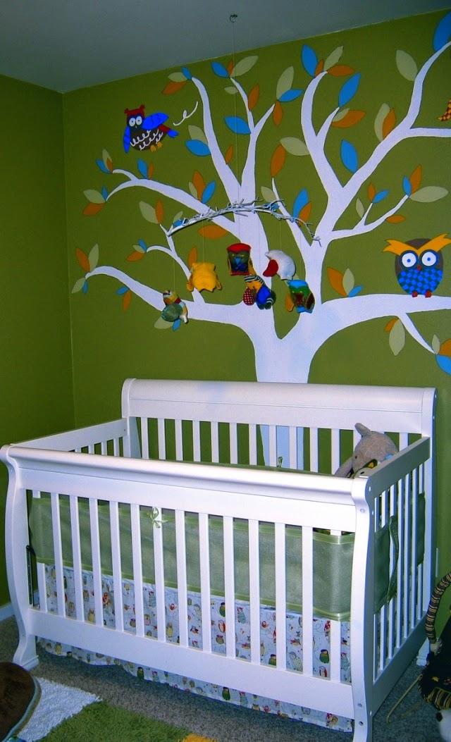 Habitaciones de bebé en color verde - Dormitorios colores ...