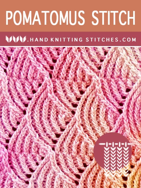 The Art of Hand Knitting - Pomatomus Lace Pattern. Free stitch pattern!