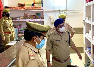 एसएसपी डॉ ब्रजेश कुमार सिंह  ने किया थाना सैफई का निरीक्षण, थाना सैफई के कार्य से खुश दिखे एसएसपी इटावा