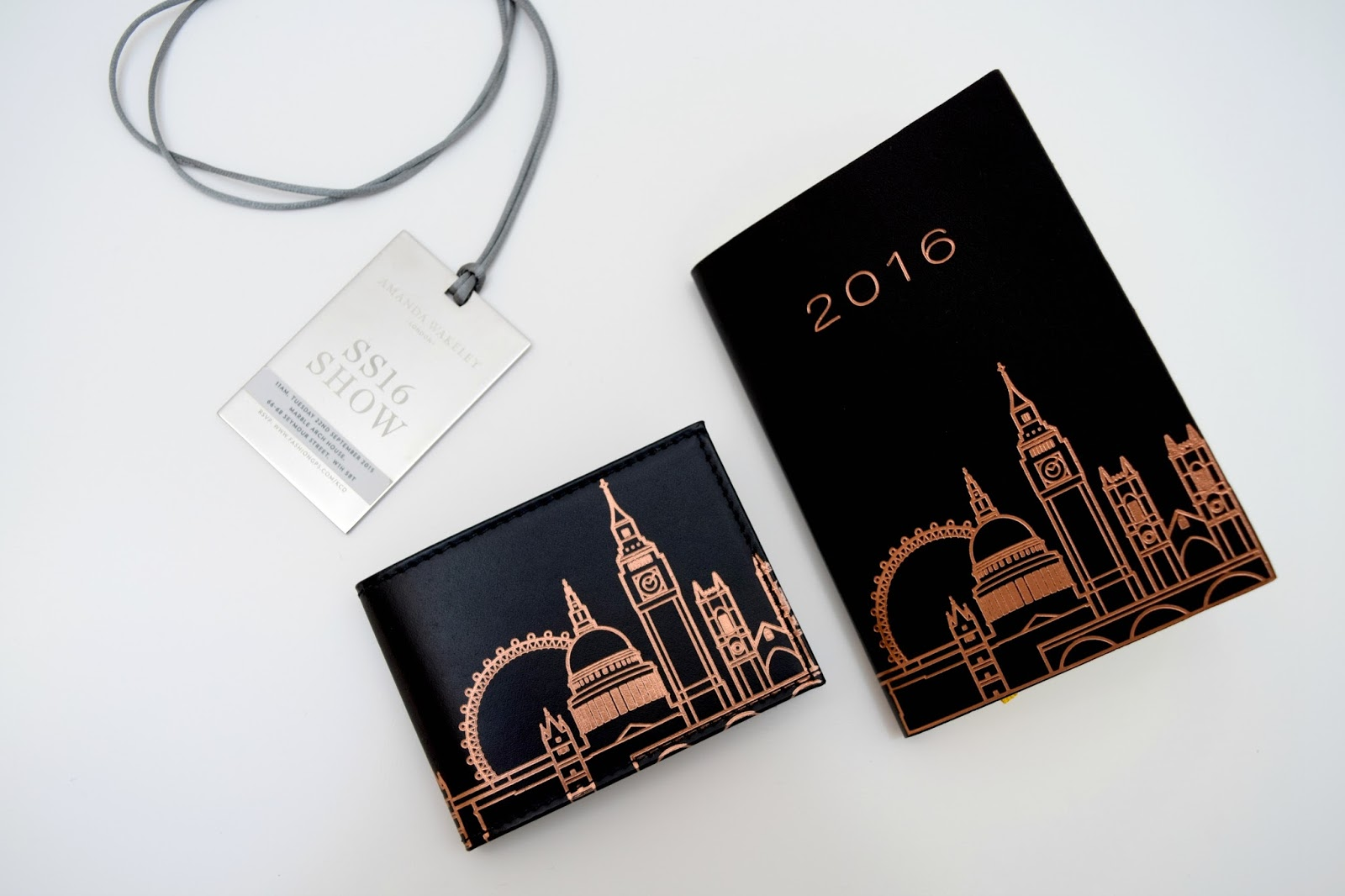 Undercover leather diary and oyster card holder London skyline