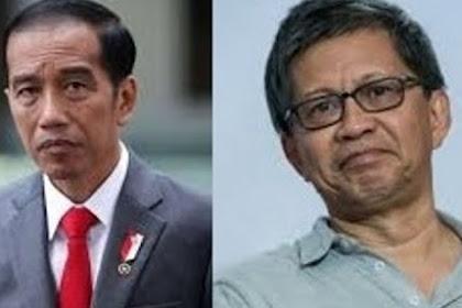 Rocky Gerung Sebut Presiden Jokowi Sebar Hoax