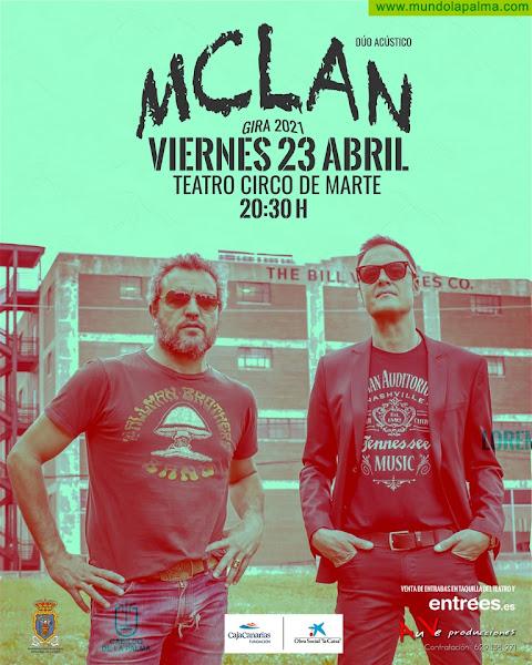 Santa Cruz de La Palma acoge hoy un concierto del grupo M Clan