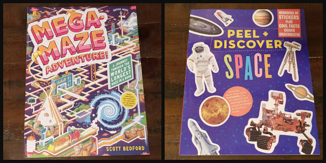 peel discover space sticker book