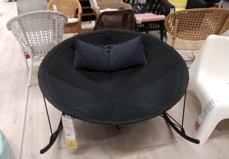 IKEA black lounge rocking chair