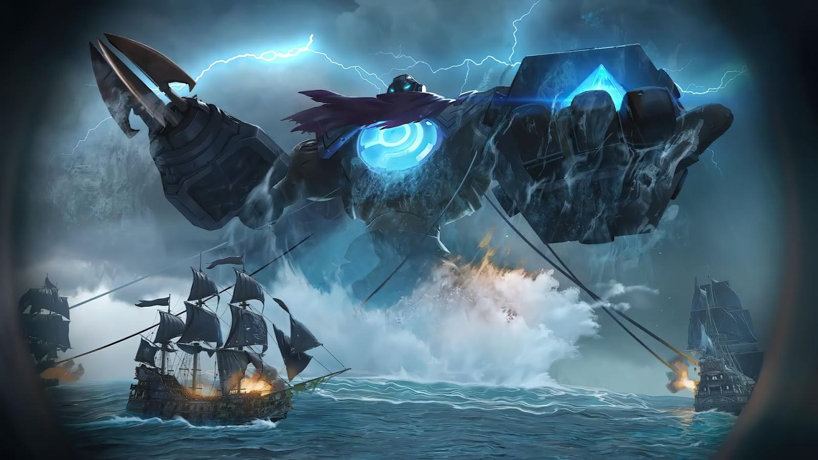 Wallpaper Atlas Ocean Gladiator V2 Skin Mobile Legends HD for PC