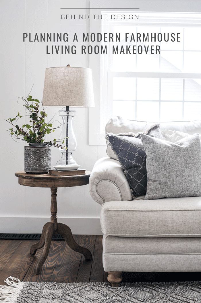 Planning a modern farmhouse living room