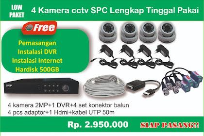 SPC 4 Kamera Paket Murah Surabaya + Free Jasa Pemasangan 085745437157