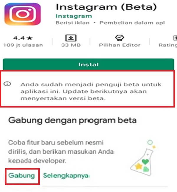 Cara Mendaftar Instagram(beta)