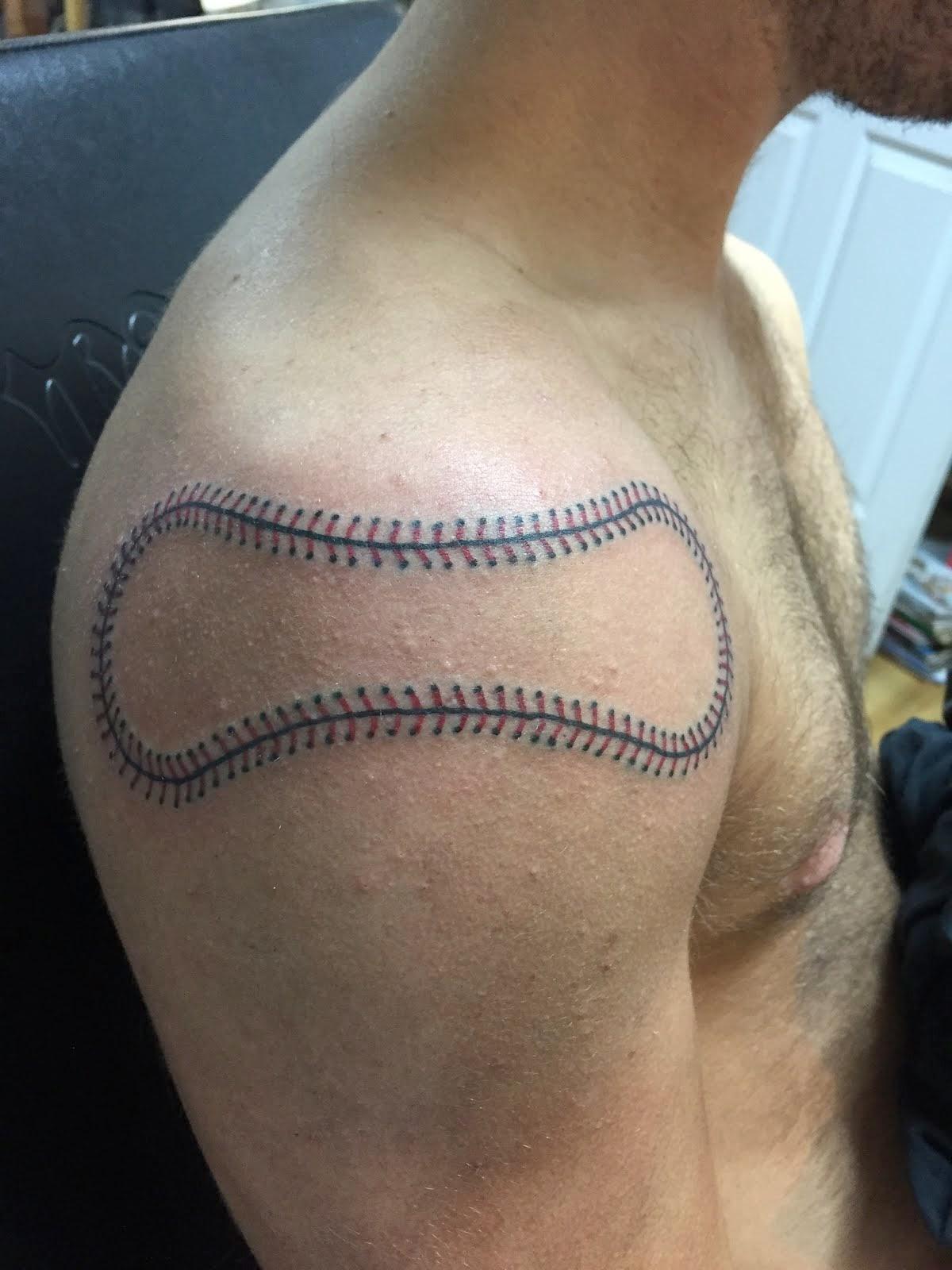 Baseball Stitches Tattoos : baseball, stitches, tattoos, Baseball, Stitches, Tattoo, Gallery, Collection