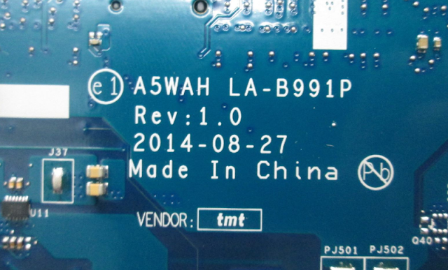 LA-B991P ACER E5-571G-57D9 Laptop Bios