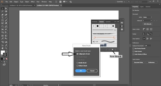 Custom Calligraphic Brush in Adobe Illustrator