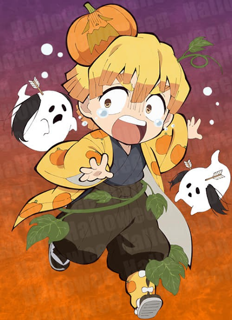 Hình ảnh Kimetsu no yaiba halloween 2020 - -Agatsuma Zenitsu