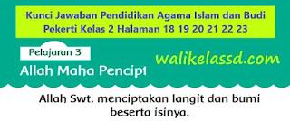 Kunci Jawaban Pendidikan Agama Islam dan Budi Pekerti Kelas 2 Halaman 18 19 20 21 22 23