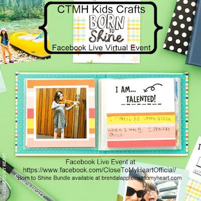 CTMH Kids Crafts Born To Shine