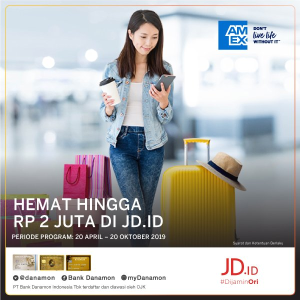 #BankDanamon - #Promo Hemat Hingga 2Jt Pesan Tiket & belanja di JDID (s.d 20 Okt 2019)